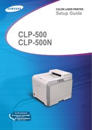 Samsung CLP-500 Installation Guide