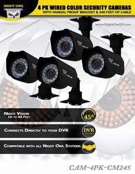 NIGHT OWL CAM-4PK-CM245 User Manual
