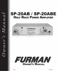 Furman sp20ab User Manual