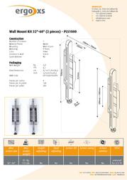 ErgoXS Wall Mount Kit - 2 pieces PLS1000 Leaflet