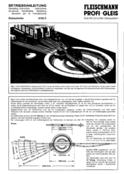 Fleischmann 6152 H0 Electric turntable 6152 Data Sheet