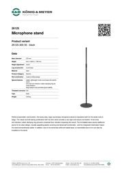 König & Meyer 26125 26125-300-55 Leaflet