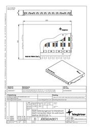 Telegaertner Telegärtner connection box 6 ports CAT 7 J00060A0071 Data Sheet