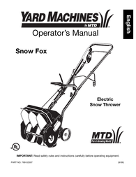 Yard Machines 769-02507 User Manual