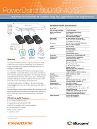 Microsemi PowerDsine 9001G-40/SP PD-9001G-40/SP/AC Leaflet