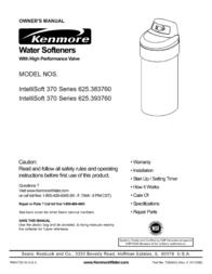 Kenmore INTELLISOFT 625.38376 User Manual