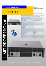 Limit FPAG12 amplifier FPAG12 Leaflet