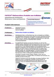 FASTECH Velcro tape stick-on Loop pad (L x W) 25 m x 107 mm Black 25 m T0110099990325 Data Sheet