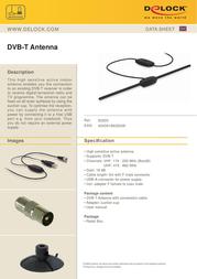 DeLOCK DVB-T Antenna 93200 Data Sheet