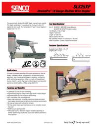 Senco SLS25XP Leaflet