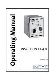 Insys ISDN Terminal Adapter 4.0 11-02-01-02-00.015 User Manual