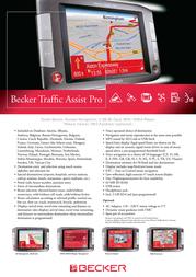 Becker Traffic Assist Pro 7916 1735.578 Leaflet