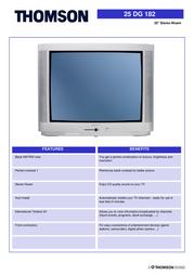 """Thomson 25"""" Stereo Nicam TV 25DG Leaflet"""
