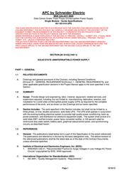 Schneider Electric MGE Galaxy 5000 SUG580A90UL User Manual
