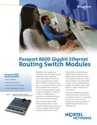 Nortel PassPort 8600 module 16xGENet MMF MT-RJ Specification Guide