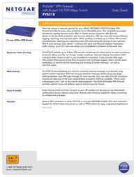 Netgear FVS318 FVS318UK Data Sheet