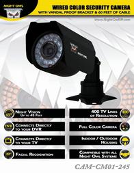 Night Owl Optics CAM-CM01-245 User Manual