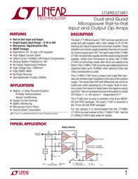 Linear Technology LT1490CS8 Linear IC SO8 Dual Prec R-to-R I/O OA LT1490CS8 Data Sheet