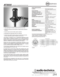 Audio-Technica AT2035 Leaflet
