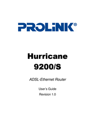 PROLINK Huricane 9200/S User Manual