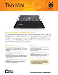 TiVo Mini TCDA92000 Leaflet