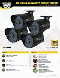 NIGHT OWL CAM-4PK-600 Leaflet