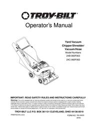 Troy-Bilt 24C-060F063 User Manual