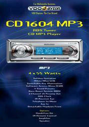 Dayton CD 1604 MP3 CD MP3 Player / RDS Tuner CD1604MP3 Leaflet