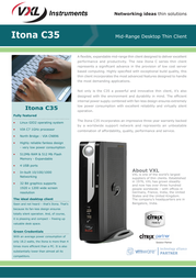 VXL c35 Specification Guide