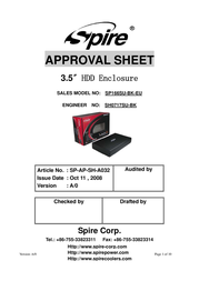 Spire SP166SUO-BK-EU User Manual