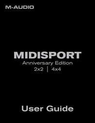 M-AUDIO MIDISPORT 2X2 INTERFACE 101615 Data Sheet