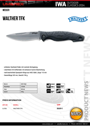 Walther Traditional Folding Knife 5.0755 Multi Tool 5.0755 Data Sheet