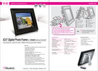 "Aluratek 10.5"" Digital Photo Frame w/ 256MB Memory Included ADMPF210 Leaflet"
