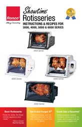 Ronco 3000 Compact Stainless Rotisserie Instruction Manual