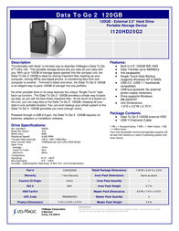 Iomagic DataToGo2 120GB I120HD25G2 Leaflet