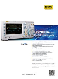 Rigol DS2072A 2-channel oscilloscope, Digital Storage oscilloscope, DS2072A Data Sheet