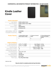 Amazon Leather Cover B005DHNPOI Leaflet
