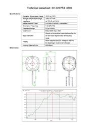 Kepo SH-G107R4-6569 miniature speaker 4 Ω ± 15 %, 1.3 ± 20 kHz SH1998C3 Data Sheet