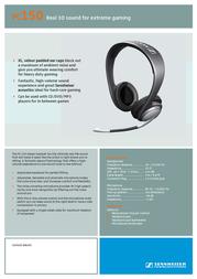 Sennheiser PC 150 PC150 Leaflet