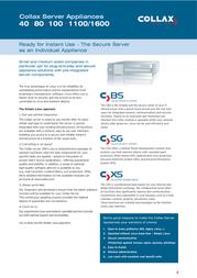 Collax Business Server 40 CBS-A07-0010-01 Leaflet