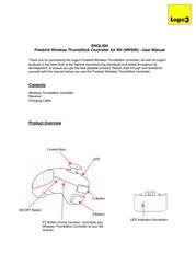 Logic3 Wii FreeBird Wireless Thumbstick Controller NW806 User Manual