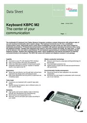 Fujitsu KBPC-M2 MM KEYBOARD S26381-K278-V110 전단