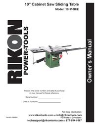 "KUHN RIKON Kuhn Rikon Corp. Saw 10"" Cabinet Saw Sliding Table User Manual"