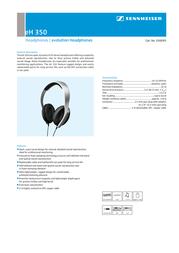 Sennheiser Headphones eH 350 EH350 Leaflet