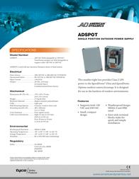 American Dynamics Tyco ADSPOT Leaflet