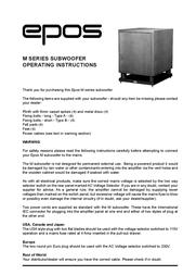 Epos M Series User Manual