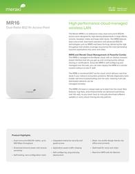 Meraki MR16 MR16-HW User Manual