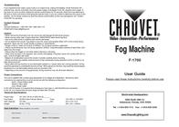 Chauvet Automobile Accessories F-1700 Leaflet