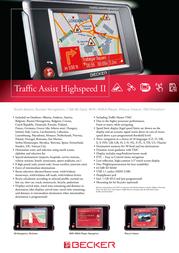 Becker Traffic Assist Highspeed II 1781.073 Leaflet