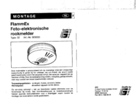 Flammex Smoke detector network-compatible 003033 battery-powered 003033 User Manual